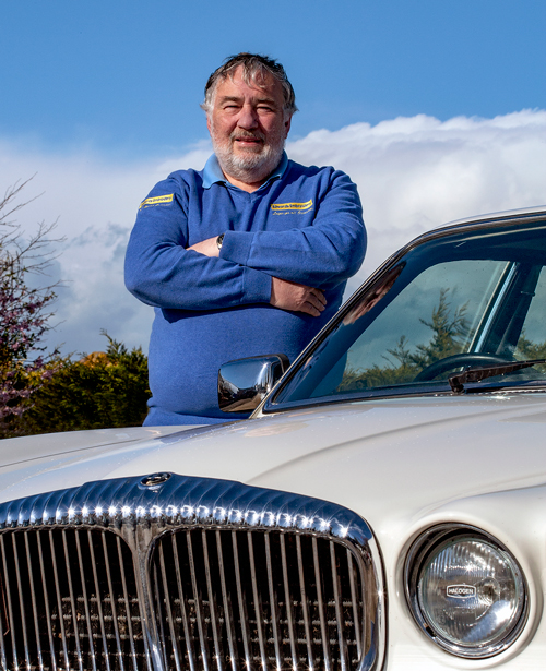 Image of Keith Edwards, owner of Embroidered Classic Car Logos