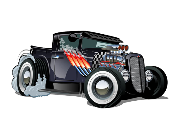 Image of Hot Rod Car available on all merchandise